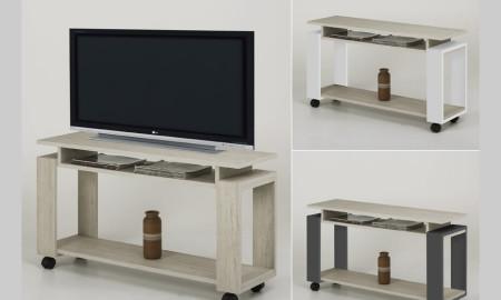 Mesas para televisi n y suplementos t v laguna s a - Mesa para tv con ruedas ...